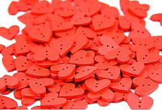 G121 Gombík srdiečko (červené)