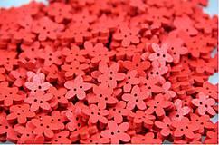Gombík kvietok 1,1 cm (Červený)