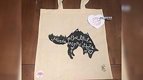 Iné tašky - ♥ Plátená, ručne maľovaná taška ♥ - 9418891_