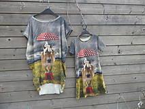Detské oblečenie - Šaty - koník v daždi :) - 9415332_