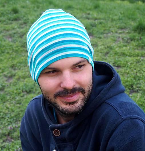 Merino čiapka celoročná dospelák - v 4 farbách (Modrá)