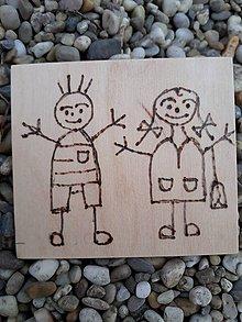 """Hračky - Vypalované drevené kartičky pre deti """"Dedove obrázky"""" (Postavičky) - 9415353_"""