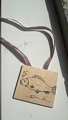 """Hračky - Vypalované drevené kartičky pre deti """"Dedove obrázky"""" (Rybka) - 9415360_"""