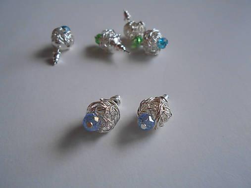 Náušnice - Modroočko