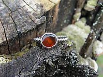 - Strieborny prsteň Ag925 Jantár - 9416814_