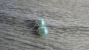 Perly napichovačky menšie - striebro 925 (svetlo modré, č. 1989)