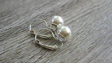Náušnice - Perly visiace - striebro 925 (Smotanové Ivory perly č.1983) - 9416979_