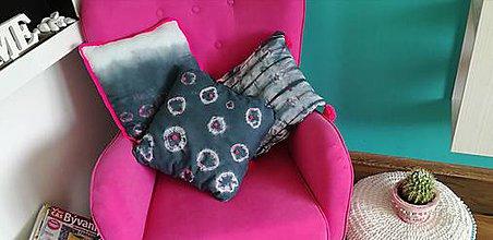 Úžitkový textil - Shibori sada 3 navleciek na vankuse - 9416354_