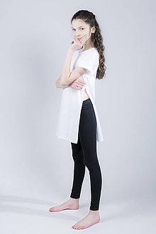 Tričká - Dlhé tričko s rozparkami - 9419043_