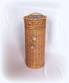 Košíky - Košík zásobník - natur v hnedom - 9418277_