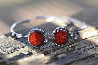 Náramky - červené koulení....náramek - 9418657_