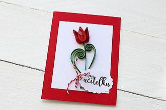 Papiernictvo - pohľadnica pre pani učiteľku - 9416821_