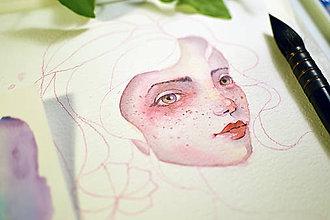 Kurzy - Workshop akvarel, Portrét - 9417101_