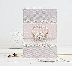 Papiernictvo - Svadobný pozdrav - srdiečko s vtáčikmi na ružovej - 9420621_