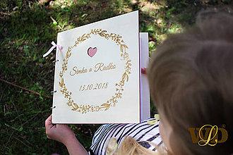 Iné doplnky - Svadobná kniha hostí - drevená - 9419939_