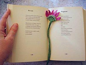 Knihy - Záložka do knihy Pekný kvietok - fialkový - 9419311_