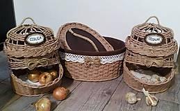 Košíky - sada košíkov do kuchyne - 9419670_