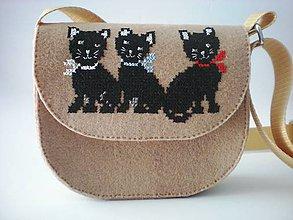 Detské tašky - Moja prvá kabelka (Mačičky) - 9420059_