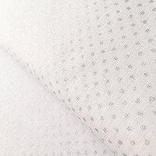 Textil - strieborné bodky; 100 % bavlna Francúzsko, šírka 160 cm, cena za 0,5 m - 9419791_