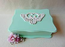 Krabičky - Shabby svadobná krabička - 9419639_