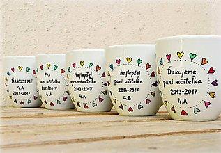 Nádoby - Porcelánový hrnček - darček pre pani učiteľku - 9420068_