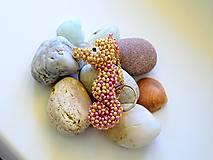 Kľúčenky - Kľúčenka Ružovo-zlatý morský koník - 9419900_