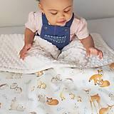 Textil - Detská deka milé zvieratká - 9419627_