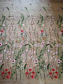 Textil - Vyšívaný tyl - 9420050_
