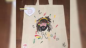 Iné tašky - ♥ Plátená, ručne maľovaná taška ♥ - 9419841_