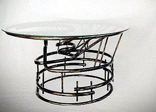 Nábytok - Kovaný stôl Dharma - 9419571_