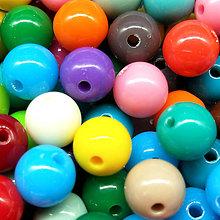 Korálky - Farebné korálky (10 ks) (Farebný MIX) - 9420492_