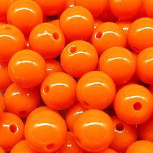 Korálky - Farebné korálky (10 ks) (Oranžová) - 9420494_