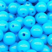 Korálky - Farebné korálky (10 ks) (Modrá) - 9420498_