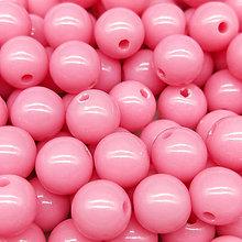 Korálky - Farebné korálky (10 ks) (Ružová) - 9420499_