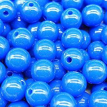 Korálky - Farebné korálky (10 ks) (Tmavo - Modrá) - 9420500_