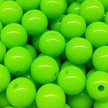 Korálky - Farebné korálky (10 ks) (Zelená) - 9420502_