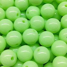 Korálky - Farebné korálky (10 ks) (Slabo - Zelená) - 9420505_