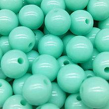 Korálky - Farebné korálky (10 ks) (Tyrkysová) - 9420506_