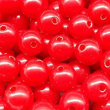 Korálky - Farebné korálky (10 ks) (Červená) - 9420507_