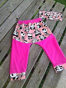 Detské oblečenie - ružová panda - 9419721_