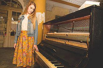 Sukne - Jupes Florales - Jaune - 9419705_