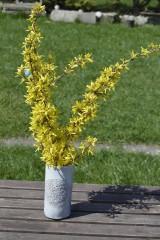 Dekorácie - Keramická čipkovaná vysoká váza - 9421190_
