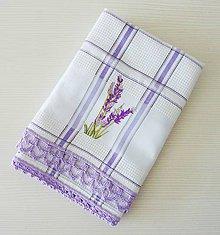 Úžitkový textil - Levanduľová s krajkou - 9420012_