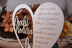 Darčeky pre svadobčanov - Poďakovanie Rodičom srdce vyrezávané 16 - 9420242_