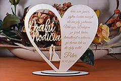 Darčeky pre svadobčanov - Poďakovanie Rodičom srdce vyrezávané 16 - 9420244_