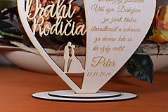 Darčeky pre svadobčanov - Poďakovanie Rodičom srdce vyrezávané 16 - 9420245_
