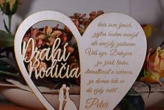 Darčeky pre svadobčanov - Poďakovanie Rodičom srdce vyrezávané 16 - 9420246_