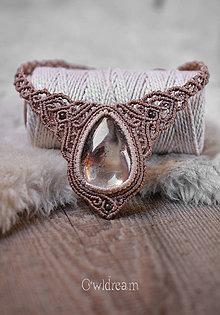 Náhrdelníky - Makramé náhrdelník s fantómovým krištáľom •Dotyk nehy• - 9419452_