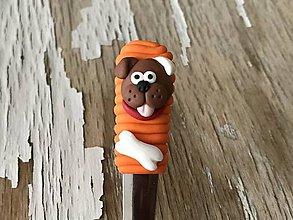 Pomôcky - lyžička so psíkom a kostičkou - 9419783_