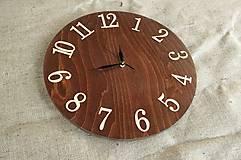 Drevené nástenné hodiny 40 cm